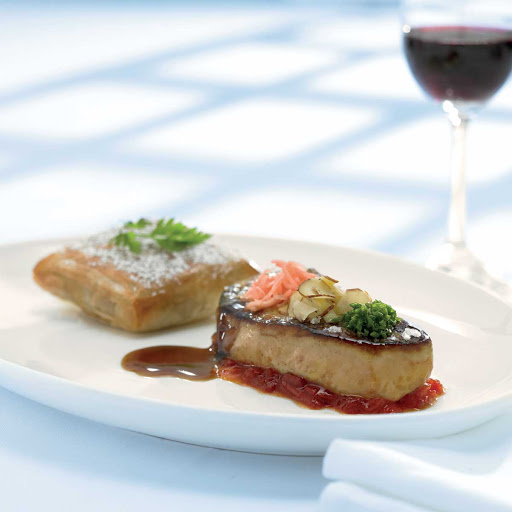 Murano Pan Seared Foie Gras - The pan seared foie gras at Celebrity Cruises's Murano.