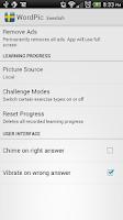 Screenshot of Learn Swedish with WordPic
