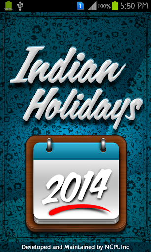 Pro Indian Holidays List 2014