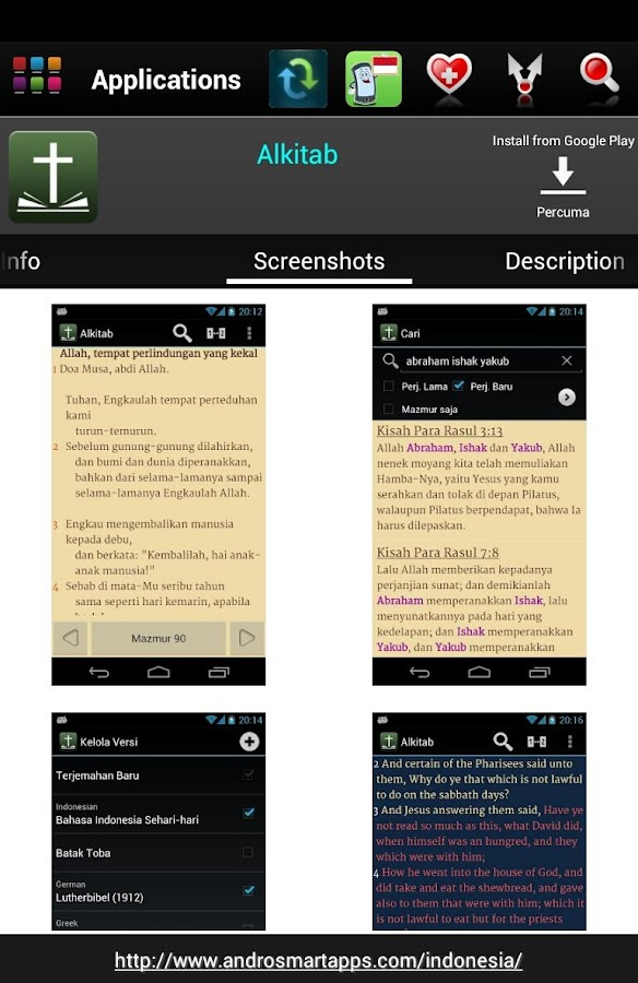 Indonesian Android - screenshot