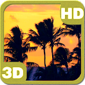 Sunset Palm Beach Silhouette icon
