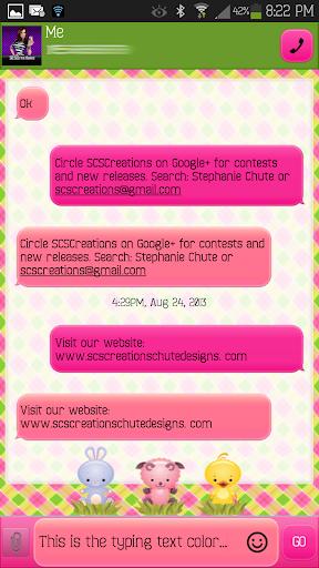 【免費個人化App】GO SMS - Easter Cuties-APP點子