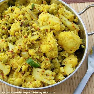 Green Peas and Cauliflower Curry.