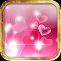 キラキラクリアピンクハートのライブ壁紙 icon