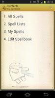 Screenshot of Spellbook - D&D 3.5