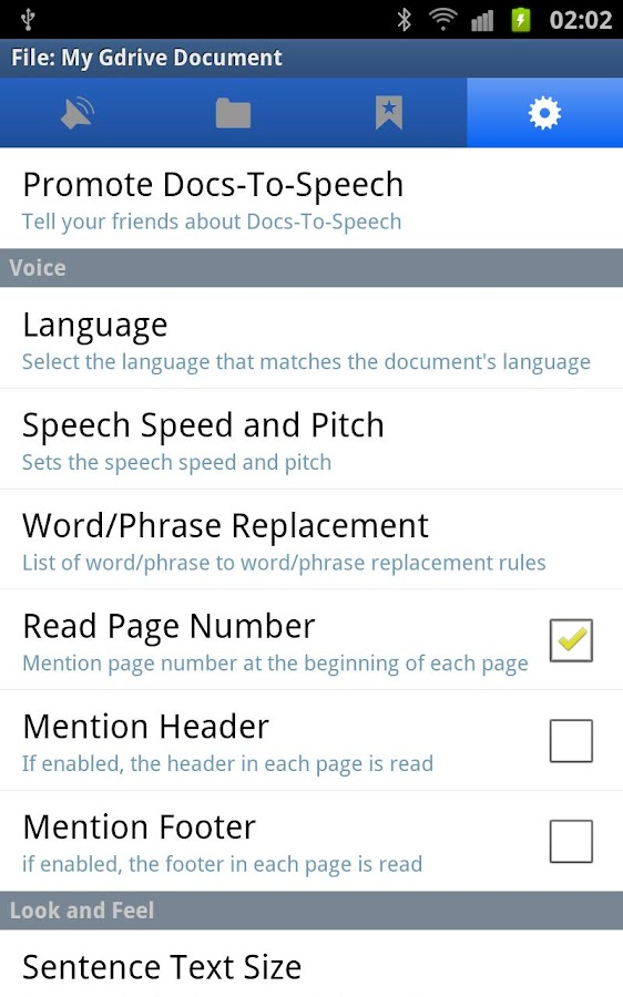 Pdf to Speech Pro - screenshot