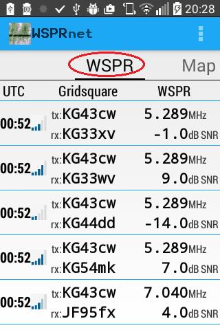 WSPRnet Viewer for WSPR