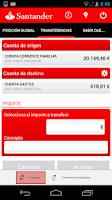 Screenshot of Santander