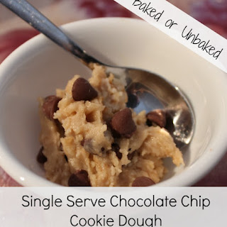 Single Serve Chocolate Chip Cookie Dough (Raw or Cooked).