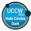 Holo Circles Dark - UCCW Skin icon
