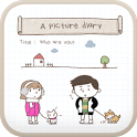 A picture diary go launcher icon