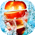 Fruits in water live wallpaper icon