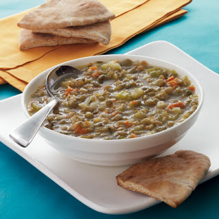 Greek Lentil Soup with Toasted Pita.