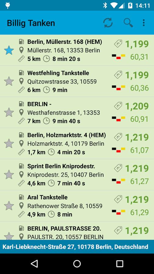 Billig Tanken Free - screenshot