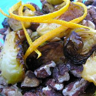 Browned Brussels Sprouts with Orange and Walnuts.