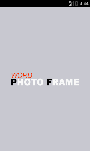 Word Photo Frame