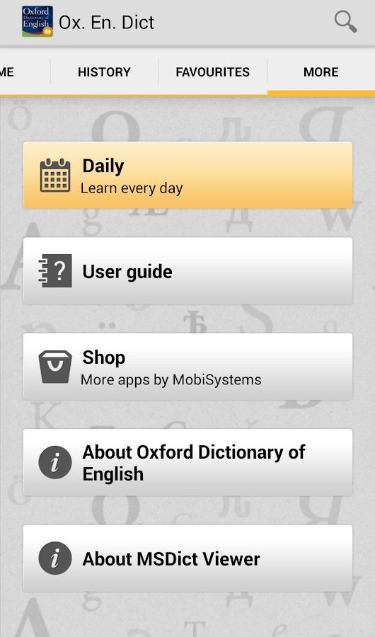 OfficeSuite Oxford English- screenshot