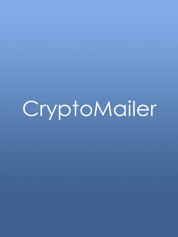 CryptoMailer- screenshot