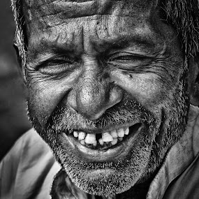 HAPPINESS by Anand Lepcha - People Portraits of Men ( street, happiness, smile, portraits, nikon, Emotion, portrait, human, people )