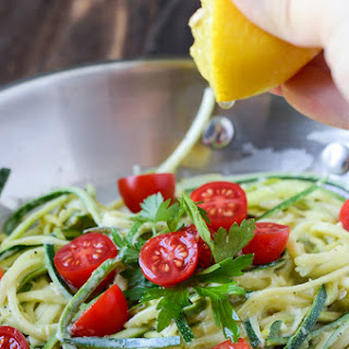 Zucchini Pasta in a Lemon Cream Sauce