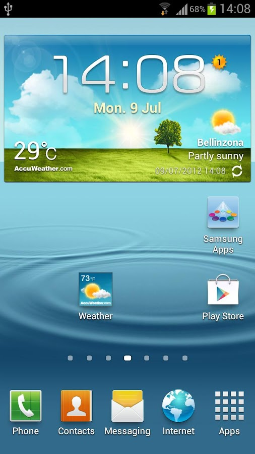 Galaxy S3 Weather Shortcut - screenshot