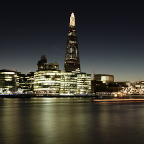 London Shards by Leanne Oosthuizen - Buildings & Architecture Office Buildings & Hotels ( lighting, london, buildings, night, river,  )