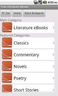 Literature eBooks - screenshot thumbnail