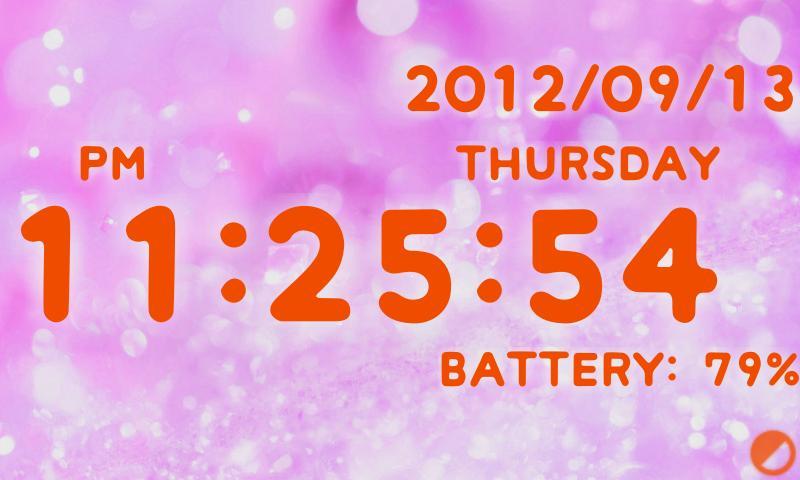 Cute clock battery Free Editio- screenshot