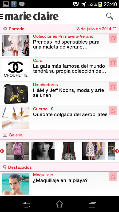 Marie-Claire.es App- screenshot