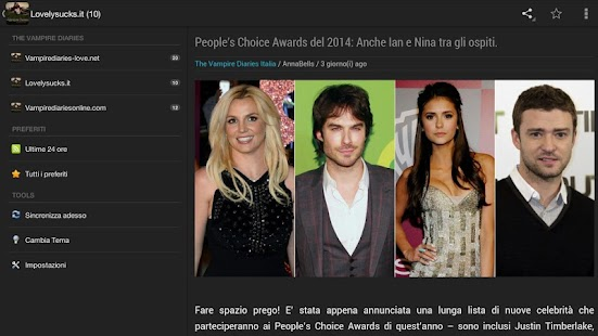 Vampire Diaries News Italia - screenshot thumbnail