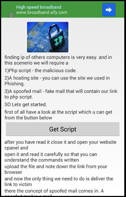 Hacking Course a pocket guide - screenshot