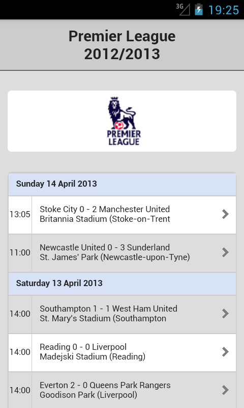 Football Live Scores - screenshot