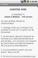 Screenshot of Le Koran