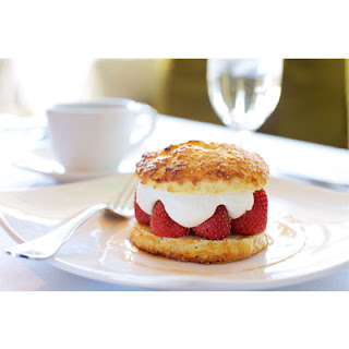 Roasted Strawberries with Plugrá® Butter Biscuits and Chantilly Cream