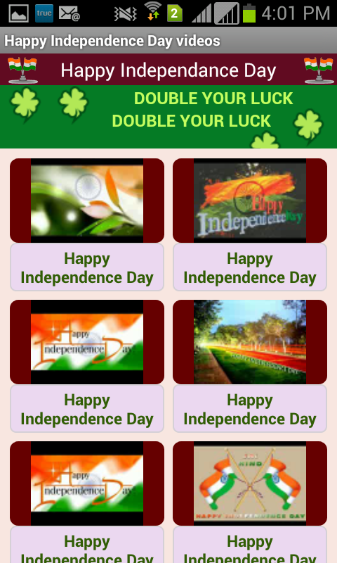 Independence Day Video SMS - screenshot