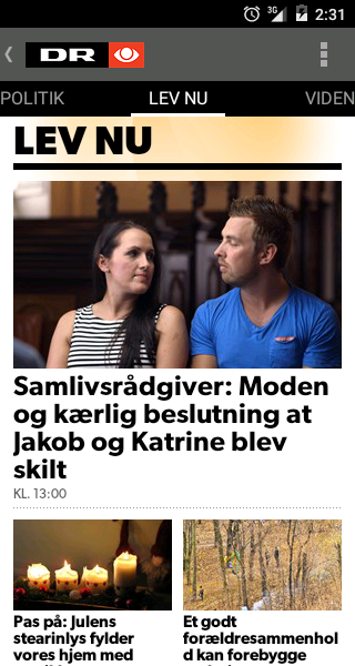 DR Nyheder - screenshot
