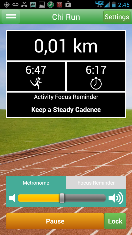 Chi Running Training App- screenshot