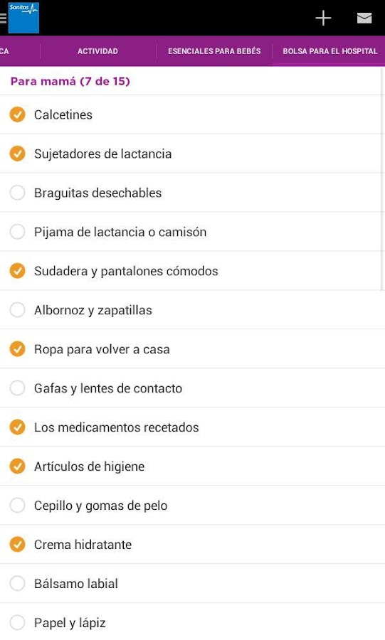 Sanitas Embarazo- screenshot