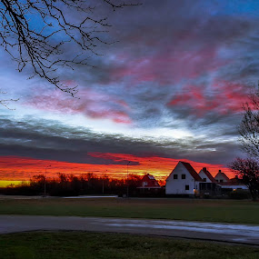 Bleeding Sky by Rami Asaad - Landscapes Cloud Formations ( sweden, hoganas )