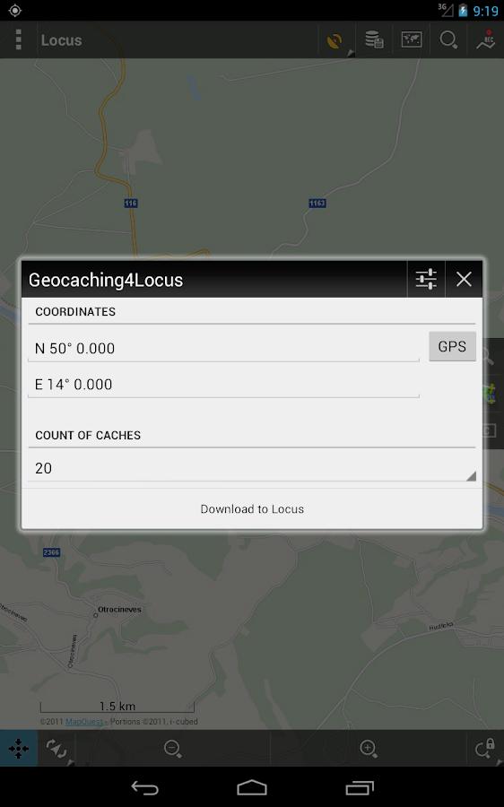Geocaching4Locus - screenshot