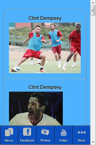 Clint Dempsey Fan App - screenshot
