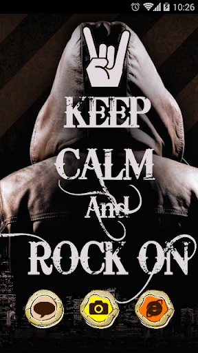 Keep Calm and Rock On Theme