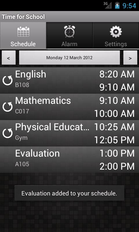 Time for School (free version) - screenshot