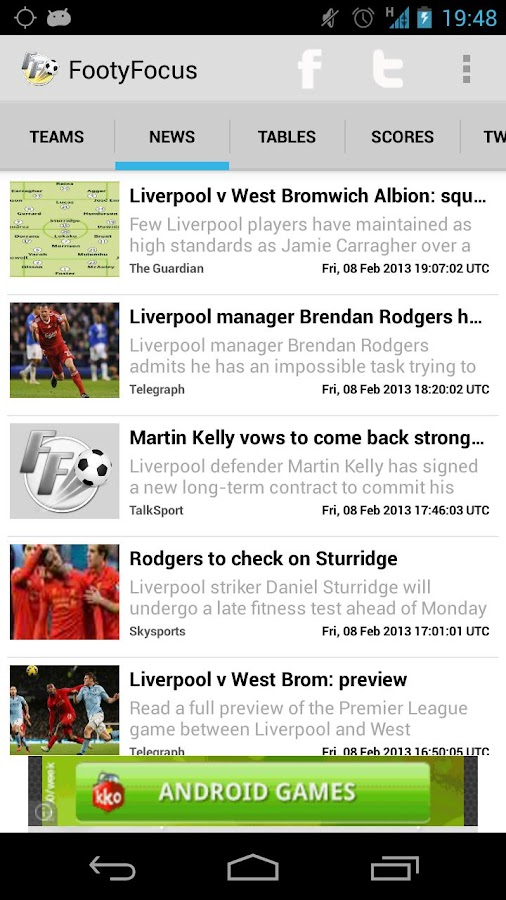Live Football Scores - screenshot