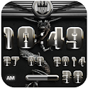 dragon digital clock silver icon