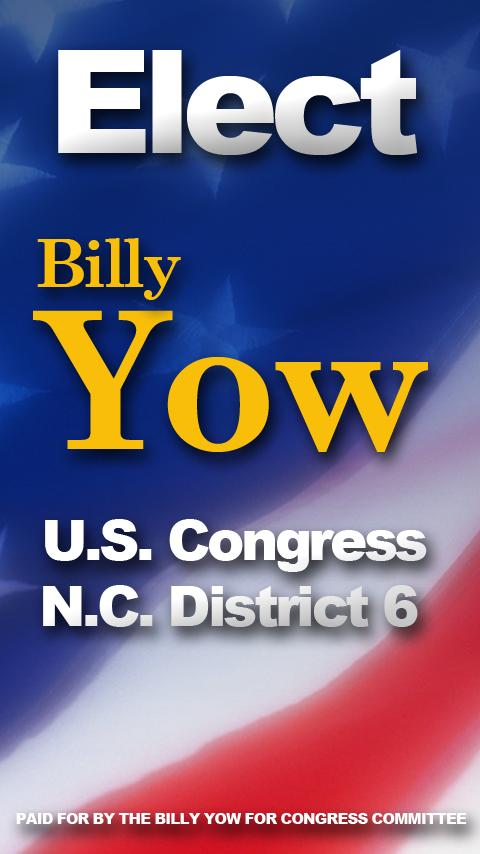 Billy Yow for Congress 2012 - screenshot