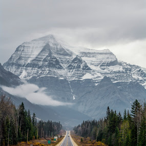Who put that Mountain in the way?! by E.g. Orren - Transportation Roads ( highway mountain scenic, , Free, Freedom, Inspire, Inspiring, Inspirational, Emotion, path, nature, landscape )