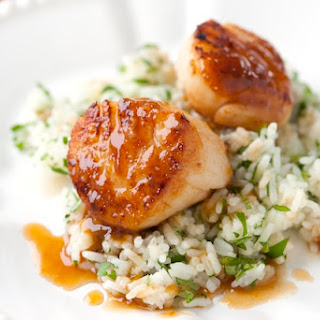 Scallop with Apricot Sauce.