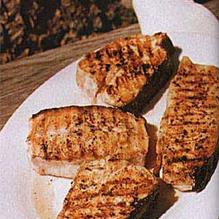 Grilled Halibut Steaks.