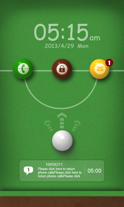 Snooker GO Locker Theme - screenshot
